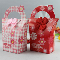 Wholesale New Wedding Party Favors Boxes Candy Gift Paper Boxes Red amp Pink