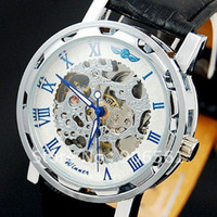Antique best mechanical wrist watch - New shop best price Mens Skeleton Wrist Watch auto Skeleton Watch Factory Watch DropShipping Fre
