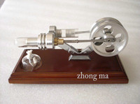 Wholesale Victory model BRAND NEW TWIN FLYWHEELS HOT AIR STIRLING ENGINE STIRLINGMOTOR NO STEAM