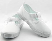 Wholesale Children s shoes white shoes factory kids school canvas cheap you can pick size
