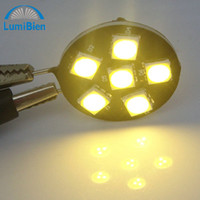 12V Front T10 100pc 12v led g4 6led 5050 white spot halogenlampe replacement home lighting led strip pin bulb lamp