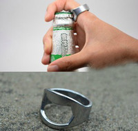 Wholesale FREE FEDEX Lowest Price PC DHL Stainless Steel Finger Ring Beer Bottle Opener mm mm mm mm