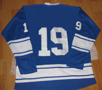 Wholesale Mens Premier Home Hockey Jerseys Blue Blank Sports Jersey New with logo Sizes mix order