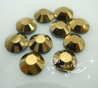 Wholesale 1440 DMC Hotfix Crystal Rhinestones Mine Gold SS20