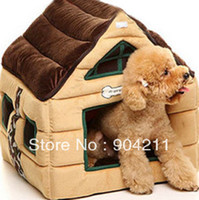 Wholesale Big size Chocolate pet kennel teddy vip cotton nest dog mat sofa cushions cat litter cat house