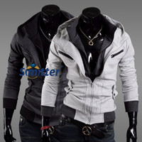 Wholesale CASUAL IN MENS HOODED ZIPPER POCKETS SWEAT JACKET