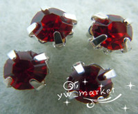 Wholesale 200 Loose Crystal Sew on Rhinestone Silver Red or
