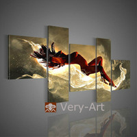 Wholesale multi panel beautiful hot naked girl body group women nude sexy oil painting wall canvas art home de