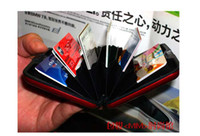 Wholesale Aluminium Credit card wallet cases colors available card holder