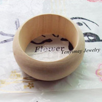 Asian & East Indian Unisex DIY Fashion Original Color 3.8cm Width Wooden Bangle For DIY Wholesale 12pcs Free Shipping