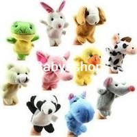 Wholesale infant plush toys finger puppets talking about the props fauna D006