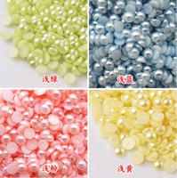Wholesale 15 off Half Pearl Round Flatback Scrapbook Nail Art Craft mm