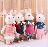 Wholesale 8 Tiramisu rabbits family pretty METOO rabbit doll stuffed toy gift girl birthday present Children p
