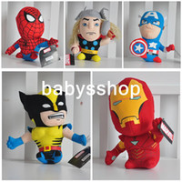 Wholesale 20cm plush stuffed toys Marvel The Avengers Movie American spiders Action Figure for the children mo