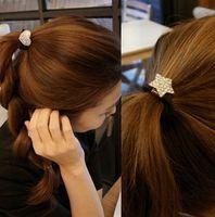 Wholesale Imitation Diamond Star Head Rope Fashion Hair Band Popular Hear Jewelry Gold Freeship