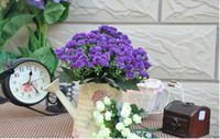 Wholesale Fake Flower Plant Indoor Trees Plastic Artificial Ficus Bonsai lilac Purple Price for Flower