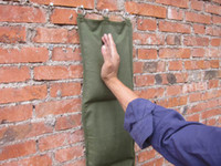 Wholesale Canvas Wall Punch Bag with D rings and Section UNFILLED