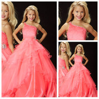 One Shoulder Ball Gown Pageant Gowns Girls Dresses Special O...