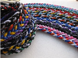 Wholesale Baseball Softball Sports Titanium Rope Braided Tornado GT Necklace colors quot quot c