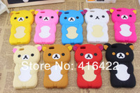 Wholesale Colors Cheap Design Soft Rilakkuma Bear Case Cover For iPhone G Without Logo