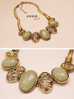 Wholesale Collar Necklaces Punk Retro Gem Necklaces Short Necklaces