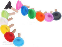 Wholesale Rubber Plunger Sucker Stand Mini Holder for Cell Phone ipod iphone S G Universal Colorful