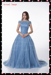 Wholesale 2013 Sexy Quinceanera Dress Off the shoulder Ball Gown Ruffle Light Blue Organza Evening Prom Dress