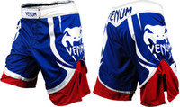 Wholesale Hot MMA Venum Devil Electron Fight blue Red short breeches beach short L XL XXL XXXL