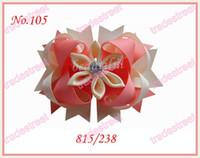 Wholesale Romantic hair bows fashion girl boutique hair bows pertty clips