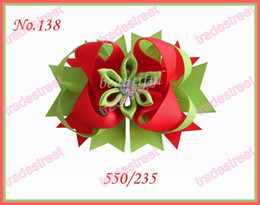 free shipping 500pcs 4.5'' Romantic hair bows fashion girl boutique hair bows novety clips