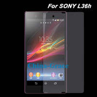 Wholesale Transparent Clear Screen Protector Film For Sony Xperia Z L36h Cell Phone Guard Films T239 B