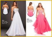 Reference Images Strapless Organza 2013 Hot Pink White Strapless A line Organza Beaded Crystal Long Prom Evening Dresses Dress Wow 4013