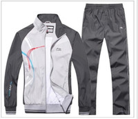 Wholesale Li Ning Autumn and sportswear suits polyester leisure men s sportswear