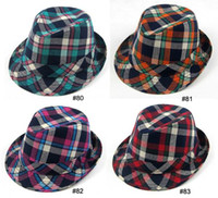 Wholesale Boy s Caps Hats children s Fedoras Hat Grid cap For kid Fashion Headgears Headwear Mix Order