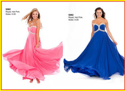 Wholesale 2015 Pink Beautiful Strapless A line Beaded Chiffon Floor Length Prom Evening Dresses Dress Wow