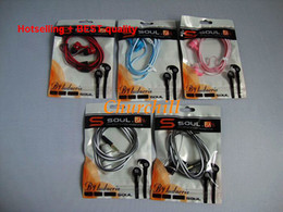 Wholesale Hot selling Earphone Best Quality SOUL by Ludacris uttra Dynamic In ear Headphones by Ludacris for mp3 mp3 phones Drop Shipping churchill