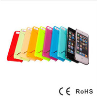 Plastic For Apple iPhone  New hot plastic hard case cover with ID credit card slot holder case cases for iPhone 5 5G