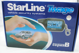 Wholesale way car alarm system Starline B9 Russian version LCD remote engine starter S652
