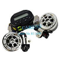 Wholesale car V AUDIO SOUND SYSTEM AUX INPUT Motorcycle ATV FM Radio MP3 STEREO SPEAKER Set Waterproof