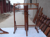 Wholesale Dark brown Color of wooden dummy free standing with frame