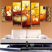 Modern modern oil paintings - Huge Size Modern Flower Oil Painting On Canvas Wall Art ytthh058