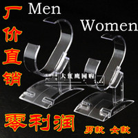 Wholesale Plastic watch display stand Watches Display Rack Holder Show Stand Acrylic Removable shelf bracket