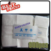 Wholesale 900 Pads Nail Art Care Wipe Polish Acrylic UV Gel Tips Cotton Remover Cleaner