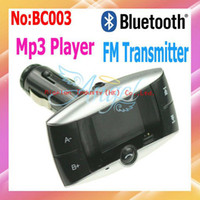 Wholesale Car MP3 Player Kit Bluetooth FM Transmitter with Inch LCD display call ID BC003