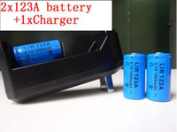 Wholesale 1Charger CR A Lithium Battery V mah rechargeable battery for flashlights