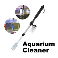 Wholesale 20 Aquarium Fish Tank Water Filter Battery Powered Vacuum Gravel Filter Cleaner