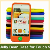 Wholesale Cute Jelly Bean Soft Silicone Case for iPod touch with Home Button Free Ship