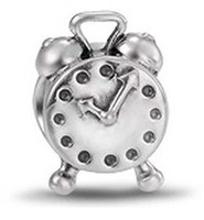 Alloy alarm clock pandora - 6 off new arrival hot sale For Pandora charm beads fit necklace bracelet Alarm Clock silver bead