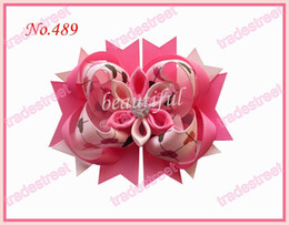 free shipping 30pcs 4.5'' Romantic hair bows fashion girl boutique hair bows novety clips