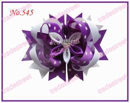 free shipping 140pcs 4.5'' Romantic hair bows fashion girl boutique hair bows pretty clips
